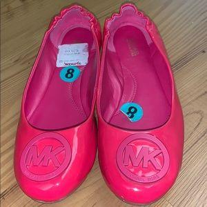 Michael Kors hot pink patent flats